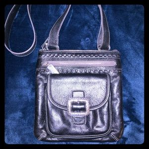 Brighton black leather Crossbody handbag